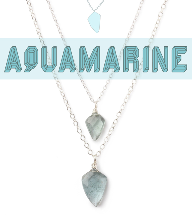 March birthstone is Aquamarine Jewelry