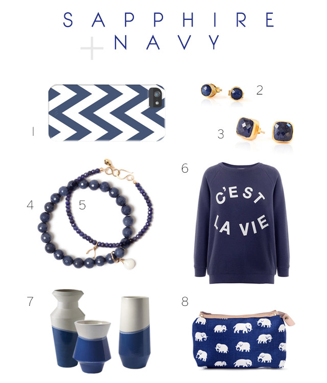 Navy + September Birthstone Sapphire