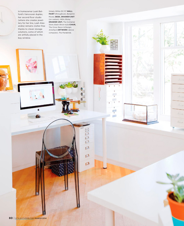 Leah Alexandra home office
