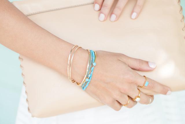 Turquoise Gold Bracelets
