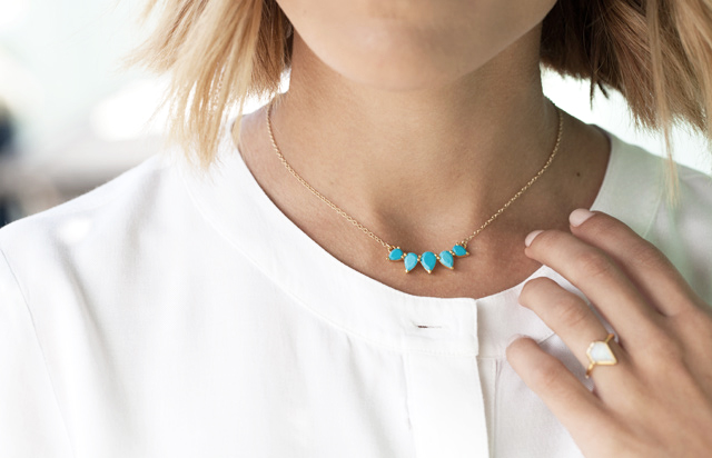 Leah Alexandra Turquoise Necklace