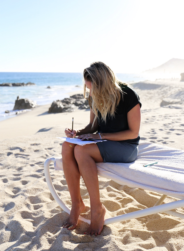 Designing on the beach at the One and Only Palmilla