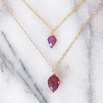 Arrow Ruby Necklace